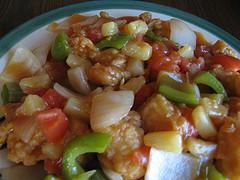 Блюдо из курицы в кисло-сладком соусе