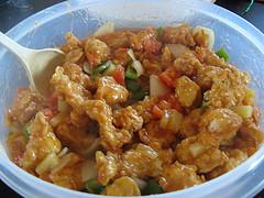 Куриное филе в кисло-сладком соусе готово