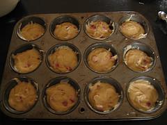 Тесто для маффинов в формочках